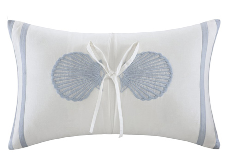 Crystal Beach Seashelll Pillow