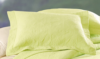Apple Green Matelasse Standard Pillow Sham