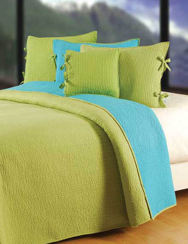 Dawn Aqua Lime Bedding
