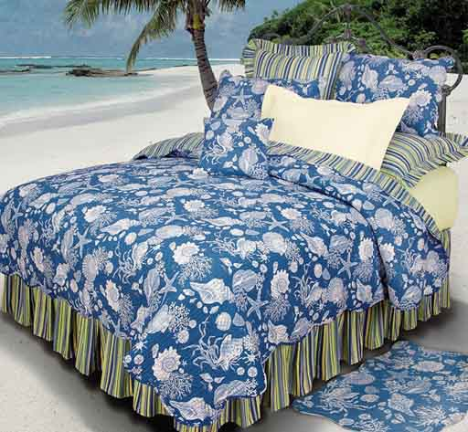 Blue Shells Bedding