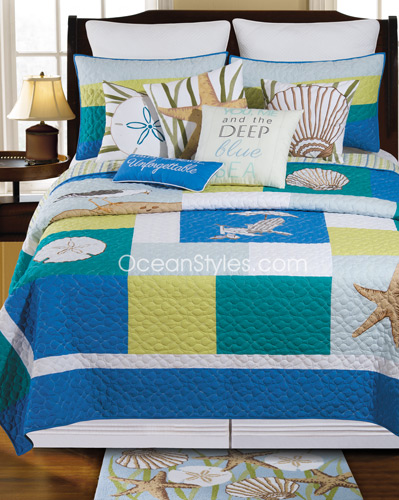 Blue Oasis Deluxe Bedding Set
