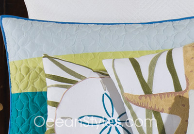 Blue Oasis Luxury Oversized Quilt