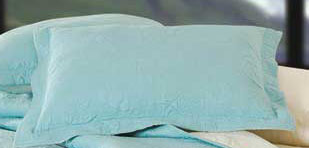 Solid Blue Shell Standard Pillow Sham