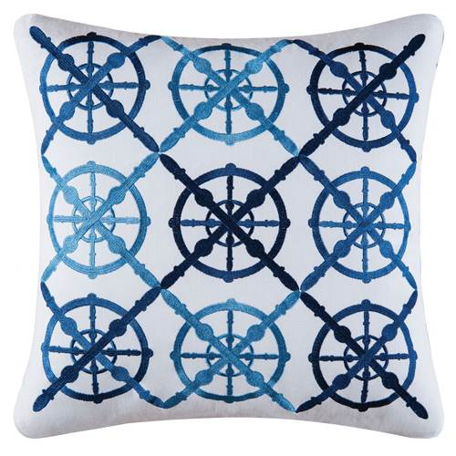 Old Port Cove Captain's Wheel Pillow