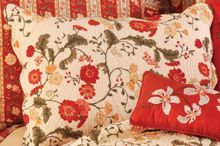 Carlisle Red Standard Pillow Sham