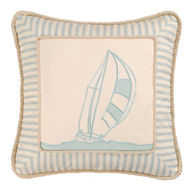 Coastal Living Sailboat Throw Pillow