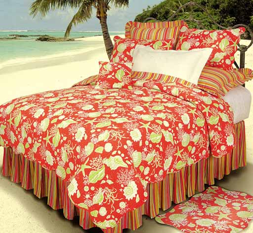 Coral Shells Deluxe Bedding Set