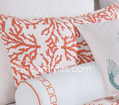 Cora Red Standard Pillow Sham
