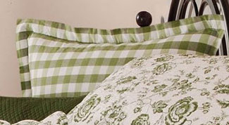 Devon Moss Plaid Euro Sham
