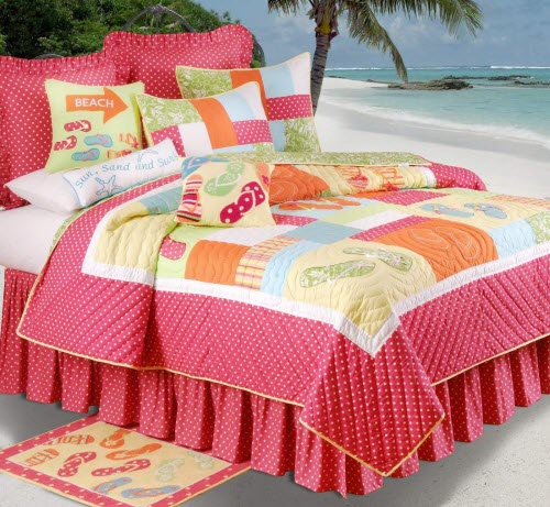 Flip Flops On The Beach Bedding