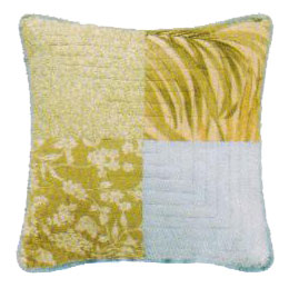 Palm Stripes 4 Square Throw Pillow