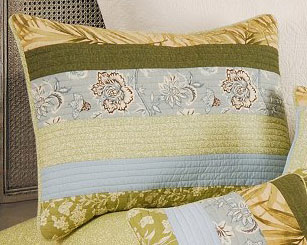 Palm Stripes Standard Pillow Sham