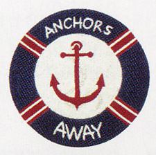 "Sail Away ""Anchors Away"" Rug"