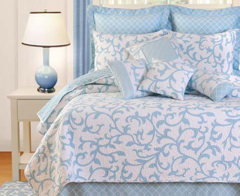 Serendipity Blue Bedding