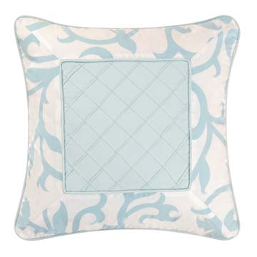 Serendipity Blue Centered Square Throw Pillow