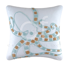Octopus Hooked Throw Pillow