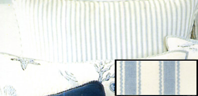Treasures Blue Ticking Euro Sham