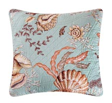 Under The Sea Quilted Throw Pillow
