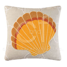 Washed Ashore Scallop Pillow