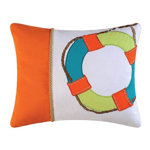 Zuma Bay Life Ring Pillow