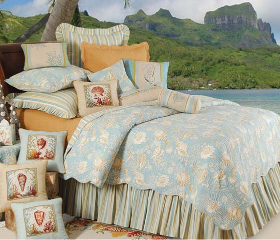 Natural Shells Deluxe Bedding Set